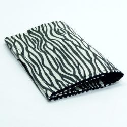 Business Card Holder Mini Wallet - Zebra print